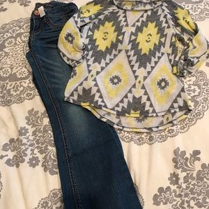 Girls Justice size 7 jeans & top